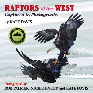 Kate Davis Books - Raptors of the West Captured in Photographs - Raptor Photography Books - Raptors of the West Captured in Photographs.  Winner 2011 National Outdoor Book Award, Design and Artistic Merit and WINNER 2011 Montana Book Award    $30.00
